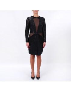 Midnight - Lurex and paillettes dress