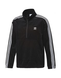Adidas - Sweatshirt with zip CORDUROY HALF-ZIP