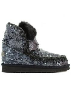 Mou - Ancle boots Eskimo All sequins rabbit fur trim
