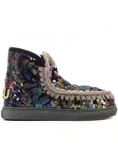 Mou - Ancle boots Eskimo sneaker big metallic logo