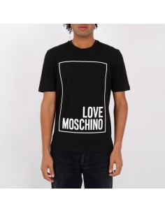 Love Moschino - T-shirt logo in rilievo