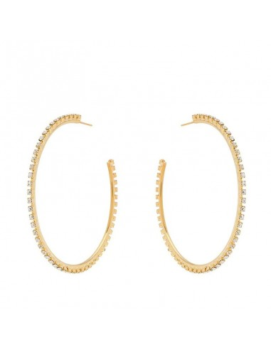 GCDS - Earrings SPARKLING LOGO HOOPS