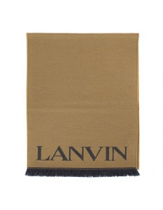 LANVIN PARIS - Scarf double-face with logo