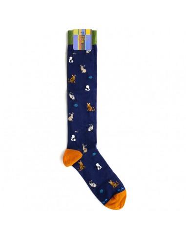 Gallo - Long socks with cats fantasy