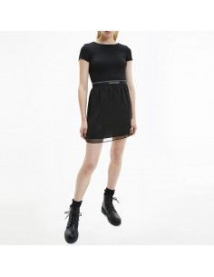Calvin Klein - Dress with waistband logo