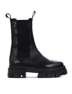 Brando - Ankle boot with elasticized fabric inserts