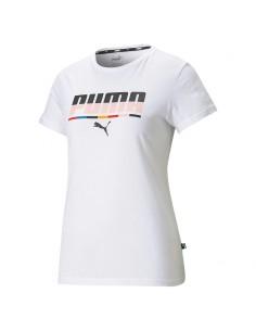 Puma - T-shirt con logo multicolore