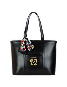 Love Moschino - Borsa shopping con logo e foulard