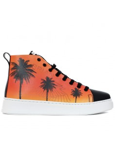 Brian Mills - Mid top sneakers with printing