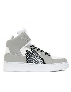 Brian Mills - Mid top sneakers with embroidered drawing