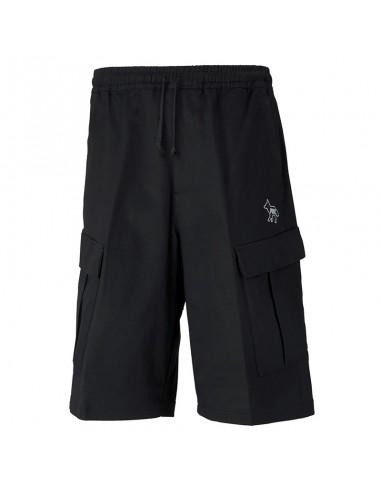 Puma X Maison Kitsuné Shorts With Logo In Black