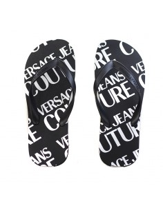 Versace Jeans Couture - Infradito con logo all over