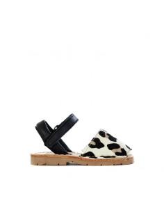 Ria Menorca Kids - Sandal with leopard print