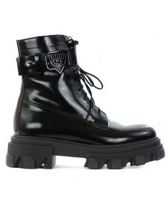 CHIARA FERRAGNI - Combat boot con fibbia monogramma