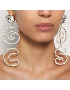 GCDS - Earrings with strass