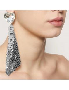 GCDS - Earrings mesh with logo